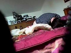 Mother voyeured as she masturbates on Watchteencam.com
