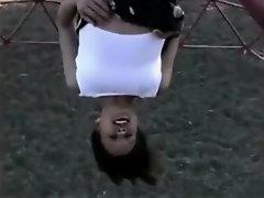 Mischievous park gymnastics on Watchteencam.com