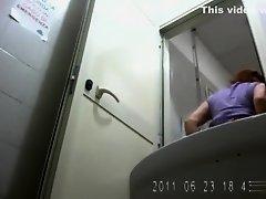 Fat ass women pissing in hidden camera video on Watchteencam.com