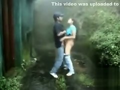 Couple fucks outdoors on a stormy day on Watchteencam.com