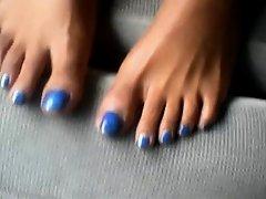 Mary Gabriel Blue Toenails on Watchteencam.com