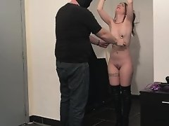 Cathy Crown Belgium Porn Star - Tickle Bondage attached at the ceiling on Watchteencam.com