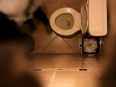 Cute teen caught peeing in toilet on Watchteencam.com