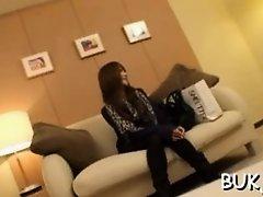 Bukkake action with office woman on Watchteencam.com