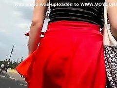 Wind helped so voyeur saw an upskirt on Watchteencam.com