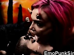Emo Succubi Demonic Orgy In Hell! on Watchteencam.com