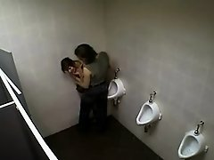 Incredible sex caught in a club toilet on Watchteencam.com
