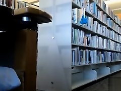 Female student makes upskirt selfie in library on Watchteencam.com
