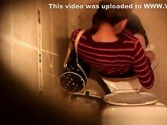 Hidden camera over the toilet on Watchteencam.com