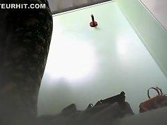 Changing room voyeur footage of girl trying on bras on Watchteencam.com