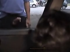 Dogging girl gives handjobs out the car window on Watchteencam.com