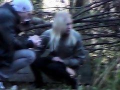 Slim girlfriend caught peeing in the city park on Watchteencam.com