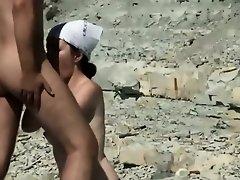Horny people on the beach having fun on Watchteencam.com