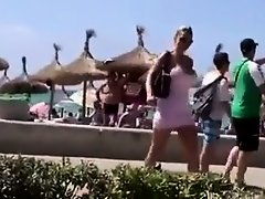 Incredible blonde bombshell flashing and sucking cock in public on Watchteencam.com