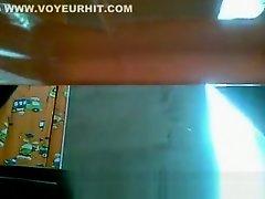 Toilet spycam catches girl pissing on Watchteencam.com
