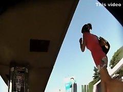 Mini skirt bus upskirt on Watchteencam.com