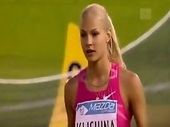 Gorgeous Russian athlete doing her long jumping on Watchteencam.com