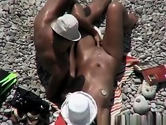 Nudist woman fingered at beach on Watchteencam.com