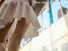 Cute Blonde In White Dress on Watchteencam.com