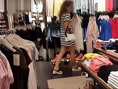 Striped Dress Striped Panties on Watchteencam.com