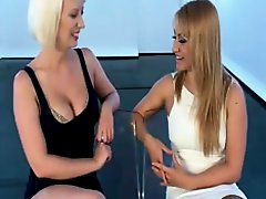 Bound blonde gets pleasured by her girlfriend on Watchteencam.com