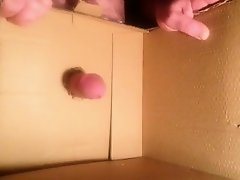 Fucking hole in cardboard soft to hard to orgasm on Watchteencam.com