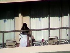 Incredible sex caught on a balcony on Watchteencam.com