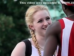 Hot girl flirts with black guys on Watchteencam.com