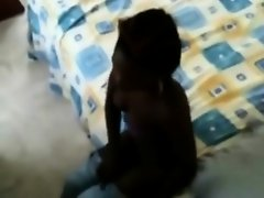 Black maid did it on her employer's bed on Watchteencam.com