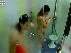 Big Brother NL 5 - Ladies nude shaving in shower on Watchteencam.com