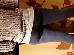 Nice black Milf in leggings on Watchteencam.com