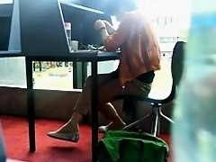 Candid Asian MILF Shoeplay Dangling Feet at Library on Watchteencam.com