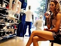 Sports Store Crossed Legs on Watchteencam.com