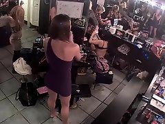 Striptease dancers go nude in the backstage on Watchteencam.com