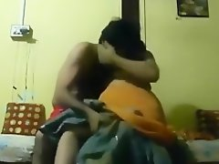 Indian girl lets her bf suck on her tits, she sucks his cock and swallows. on Watchteencam.com