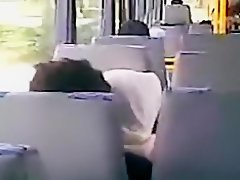 Voyeur tapes an arab hijab girl blowing her bf's cock in a public bus on Watchteencam.com