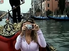 Romantic gondola ride with a hot slut on Watchteencam.com