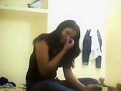 Indian girl has oral, missionary and cowgirl sex with her guy in the bedroom. on Watchteencam.com