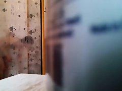 Petite girl peeped naked in bathroom on Watchteencam.com