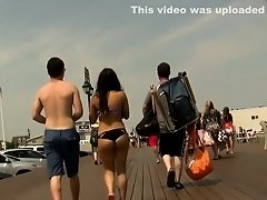 Tight booty hottie in black bikini bottoms on Watchteencam.com