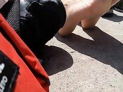 Public feet on Watchteencam.com