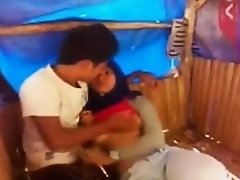 Malay Angel Enjoying Sex With Boyfriend In a Hut on Watchteencam.com