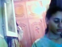 Busty Arab babe gives me handjob in amateur webcam vid on Watchteencam.com