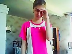 Russian girl gives her bf a blowjob and gets a facial on Watchteencam.com
