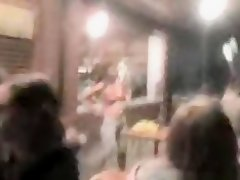 Russian girl strips at a bar and pours water over her naked body on Watchteencam.com