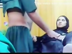 Arab girl gets missionary fucked and creampied on a table on Watchteencam.com