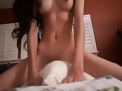 Sexy Desi Teen Pillow Riding on Watchteencam.com