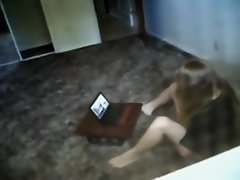 Peeping the neighbor girl video chatting on Watchteencam.com