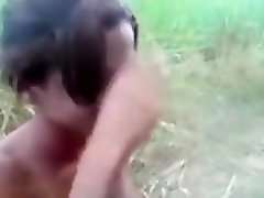 Indian girl has oral and missionary sex on a bike in nature on Watchteencam.com