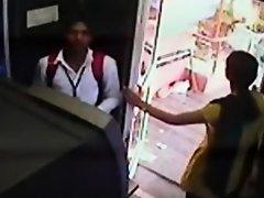 ATM Scandal captured by security camera on Watchteencam.com